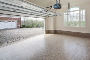 Traditional Garage with simple granite floors, Casement, specialty door, Standard height