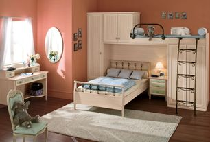 Traditional Kids Bedroom with Bunk beds, Laminate floors