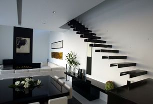 Modern Staircase with Laminate floors, Floating staircase