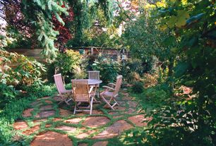 Rustic Patio with Fence, exterior stone floors