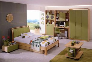 Contemporary Kids Bedroom with Carpet