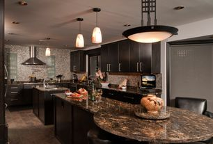 Modern Kitchen with Undermount sink, Wisten Pendant, Wall Hood, flush light, Wall Range Hood, Paint, full backsplash, Paint 2