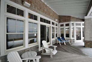 Cottage Patio with Transom window