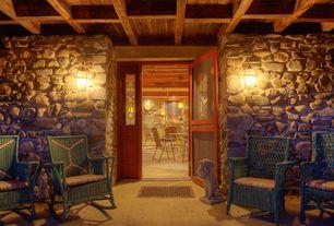 Rustic Porch with Glass panel door