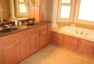 Traditional Master Bathroom with Burgundy Series (Burgundy Gold)  Ceramic And  Porcelain By Arizona Tile, High ceiling