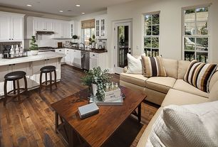 Traditional Kitchen with Complex granite counters, Complex Granite, Belham Living Chadwick Leather Saddle Stool - Espresso