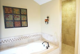 Contemporary Master Bathroom with flush light, Arizona tile, AMALFI SERIES, Ceramic & Porcelain, Master bathroom