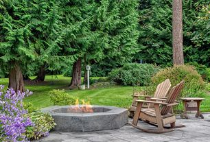 Traditional Patio with Fire pit, exterior stone floors