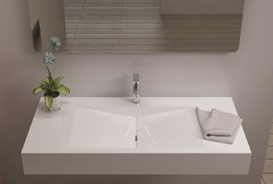 Contemporary Master Bathroom with Scarabeo by nameeks teorema wall mounted bathroom sink, Paint