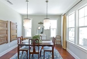 Transitional Dining Room with Home Legend Brazilian Cherry 3/4 in. T x 4-7/8 in. W x Random L Solid Exotic Hardwood Flooring