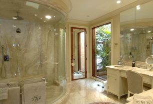 Traditional Master Bathroom with Undermount sink, Complex marble counters, Inset cabinets, Raised panel, Complex Marble