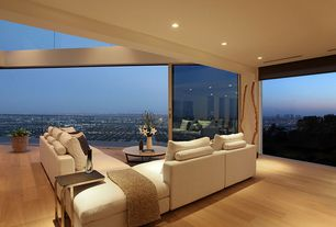 Contemporary Living Room with Hardwood floors