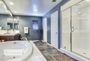 "Traditional Master Bathroom with Kohler Devonshire Deck-/Rim-Mount High-Flow Bath Faucet Trim with 9"" Spout and Lever Handles"