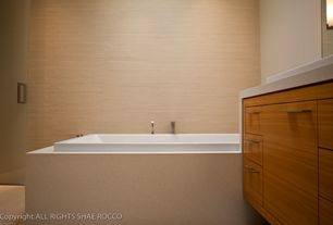 Modern Master Bathroom with Inset cabinets, Quartz counters, Master bathroom, European Cabinets, Flush