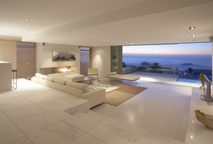 Contemporary Living Room with simple marble tile floors, The Barcelona Day Bed, Sunken living room