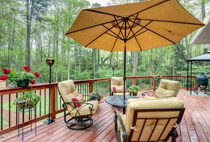 Traditional Deck with Gazebo, outdoor pizza oven