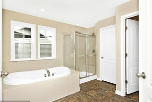 Traditional Master Bathroom with The Tile Shop Imperial Bone Crazed 6 x 6 in, Master bathroom, specialty door