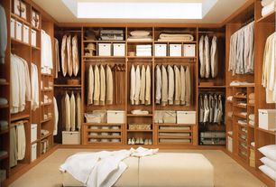 Contemporary Closet with Carpet, High ceiling, California closets custom dressing room