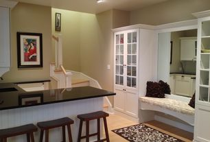 Cottage Basement with Standard height, Absolute black granite, Paint 1, Paintable white beadboard, can lights
