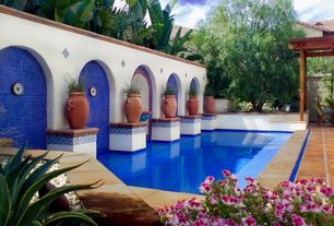 Eclectic Swimming Pool with Other Pool Type, exterior terracotta tile floors, exterior tile floors, Raised beds