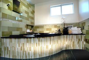 Master Bathroom with Master bathroom, Mod Wall Lush Glass Tile, Interstyle Tempo glass tile
