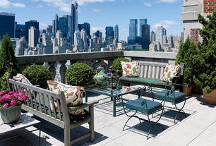 Traditional Deck with Deck Railing, Custom accent pillows, exterior tile floors, exterior concrete tile floors