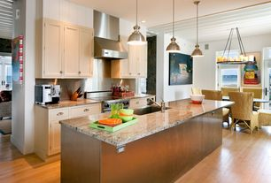 Contemporary Kitchen with Dura Supreme Cabinetry Dalton Panel, Undermount sink, Simple granite counters, Flat panel cabinets