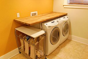Traditional Laundry Room with Standard height, laundry sink, Undermount sink