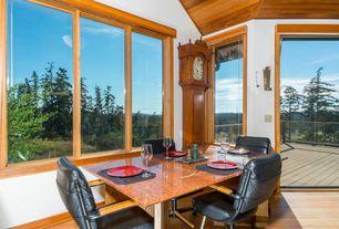 Craftsman Dining Room with Hardwood floors