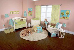 Contemporary Kids Bedroom with Built-in bookshelf, Hardwood floors