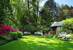 Traditional Landscape/Yard with Gazebo, Raised beds