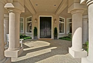 Traditional Entryway with Pathway, exterior concrete tile floors, exterior stone floors, exterior tile floors, picture window