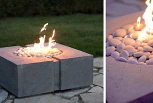Contemporary Patio with Fire pit