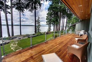 Contemporary Deck with Pathway, Fire pit