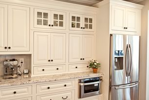 Traditional Kitchen with Complex granite counters, Slate Tile, Crown molding, Stone Tile, Ms International Vintage Granite