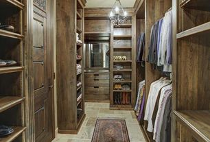Traditional Closet with Murray Feiss F2750/3RI/BWD Rustic Iron / Burnished Wood Adan 3 Light Single Tier Chandelier