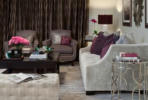 Contemporary Living Room with Safavieh florence beige tufted rectangle ottoman, Paint, Standard height