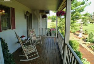 Traditional Porch with Porch swing, Fountain, Wrap around porch