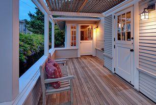 Cottage Porch with Dutch door, Trellis, Casement, Screened porch