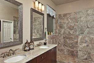 Contemporary Master Bathroom with Flush, Shower, Double sink, European Cabinets, Master bathroom, Ceramic Tile, no showerdoor