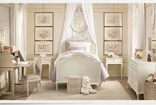 Traditional Kids Bedroom with Restoration hardware baby & child adele bed, Pendant light, Hardwood floors, Wainscotting