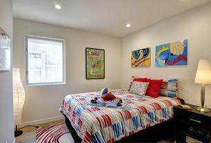Contemporary Kids Bedroom with Lamps Plus Deco Dome Touch Lamp, Ikea Dudero Floor Lamp, Ikea EIVOR CIRKEL Rug