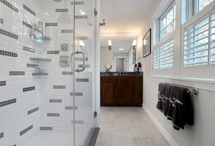 Contemporary Master Bathroom with MS International Eramosa Silver Porcelain Tile