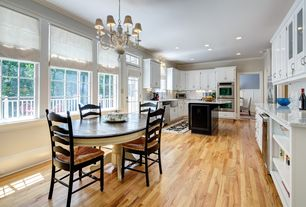 Traditional Kitchen with Bruce Plano Marsh 3/4 in. Thick x 3-1/4 in. Wide x Random Length Solid Hardwood Flooring, U-shaped