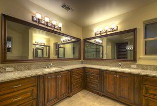 Traditional Master Bathroom with Handheld showerhead, Pental - Delicatus Polished Granite Slab, slate tile floors, Slate Tile