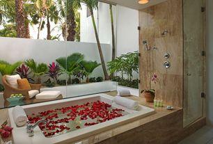 """Tropical Full Bathroom with Jacuzzi fuz7260ccr5iha almond 72"""" x 60"""" fuzion drop in luxury salon spa bathtub, High ceiling"""