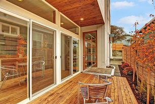 Contemporary Patio with Transom window, Fence