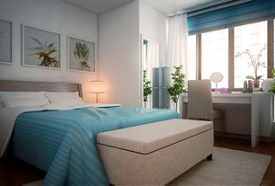 Contemporary Master Bedroom with TMS Taylor Writing Desk, Ikea Henriksdal Dining Chair, Ikea Magnarp Table Lamp