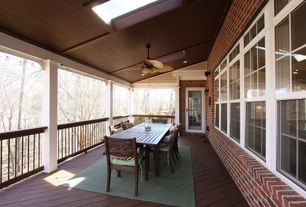 Traditional Porch with Wrap around porch, Skylight, French doors