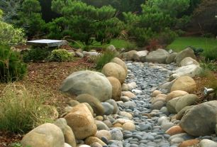 Asian Landscape/Yard with Pathway, Natural Stone Distributors Decorative Boulders